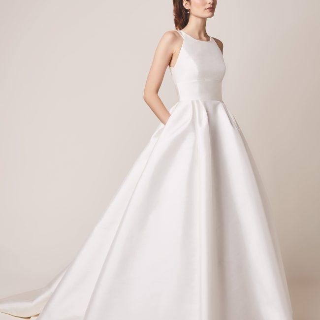 plain ball gown wedding dress