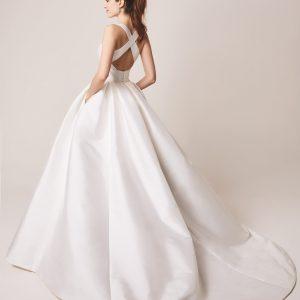 amazing back wedding dress