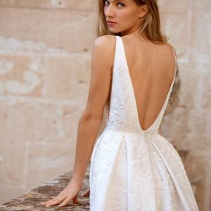 low back ball gown wedding dress
