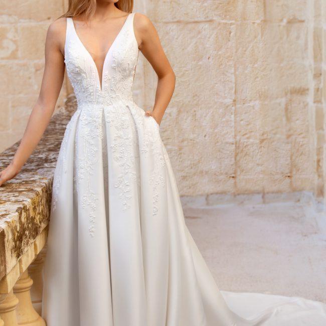 intricate beaded wedding dress