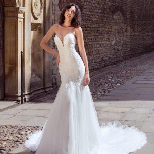 beaded mermaid wedding dress
