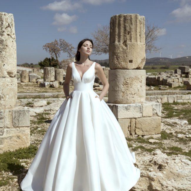 pure white wedding dress