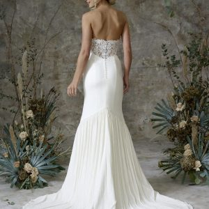 Aerial - Wedding Dresses & Gowns Auckland - aerial no sleeves back scaled