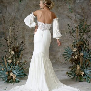 Aerial - Wedding Dresses & Gowns Auckland - aerial sleeves back scaled