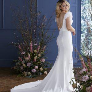 Delphine open back wedding dress