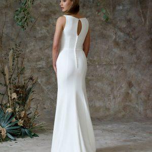 closed back wedding dress