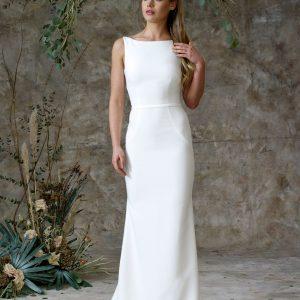 simple front wedding dress