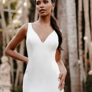 figure flattering wedding dress
