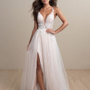 leg split wedding dress
