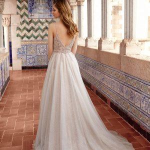Sparkle tule wedding dress